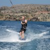 Wakeboarding at Vai Beach, Crete