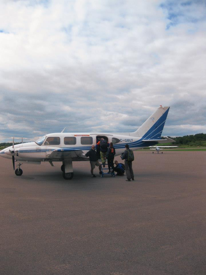 loading in to the plane ready to go Skydiving in Gatineau!