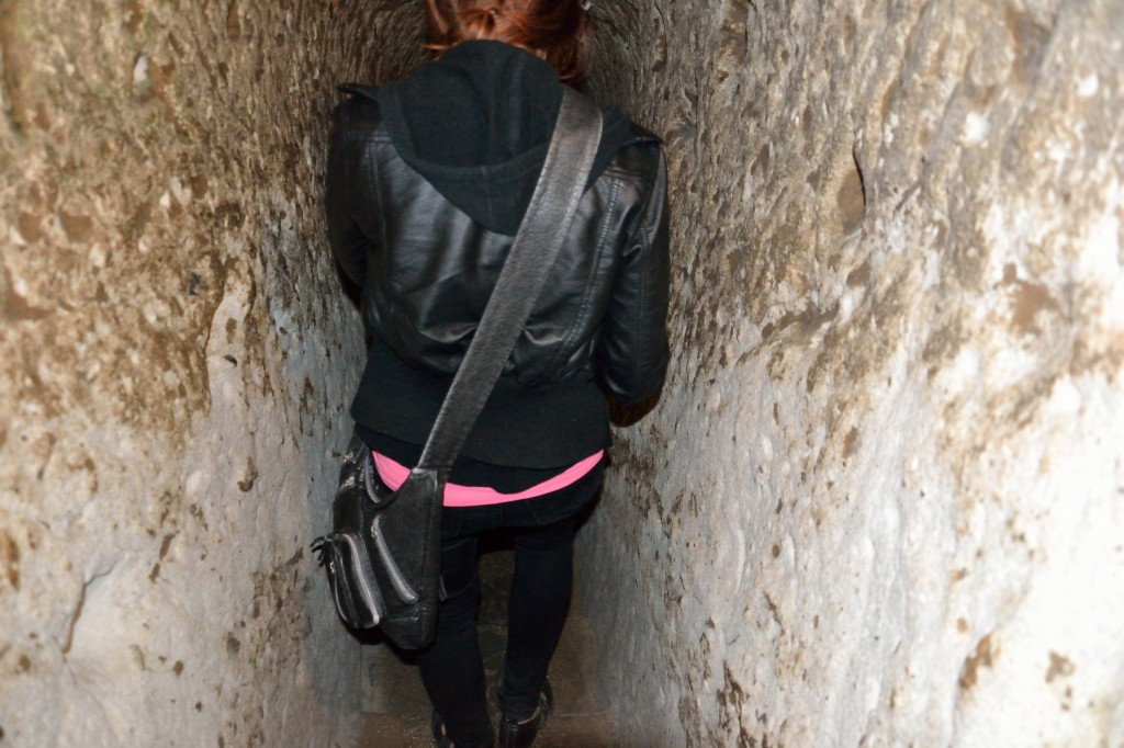 narrow passage in Cappadocia Underground Cities