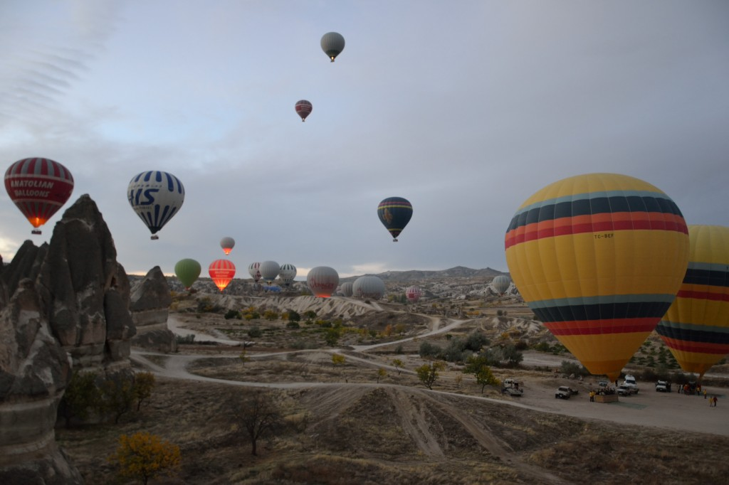 Cappadocia Hot air balloon taking off