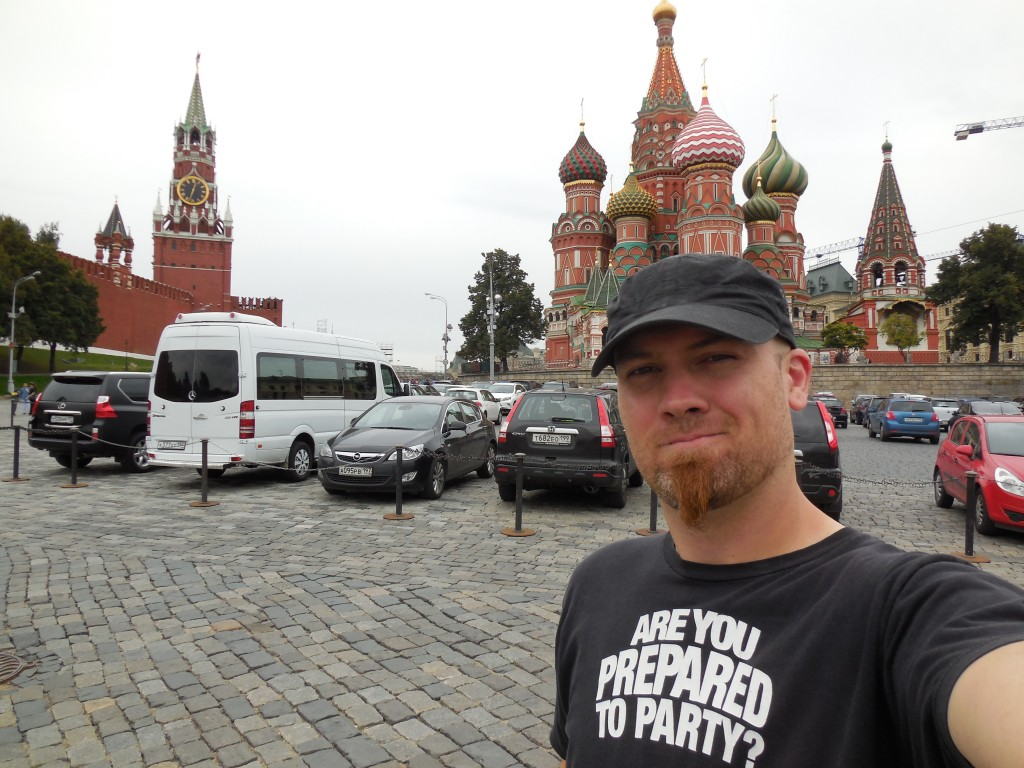 In front of St. Basil's Cathedral