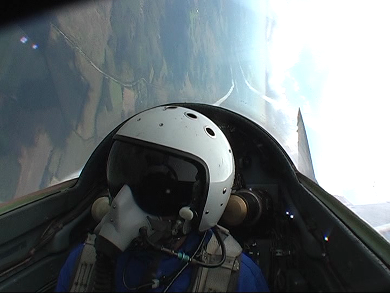 I take control of the MIG-29 Flighter Jet