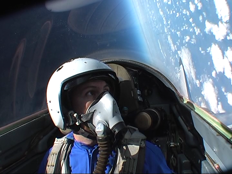 Looking back at the earth from the edge of space