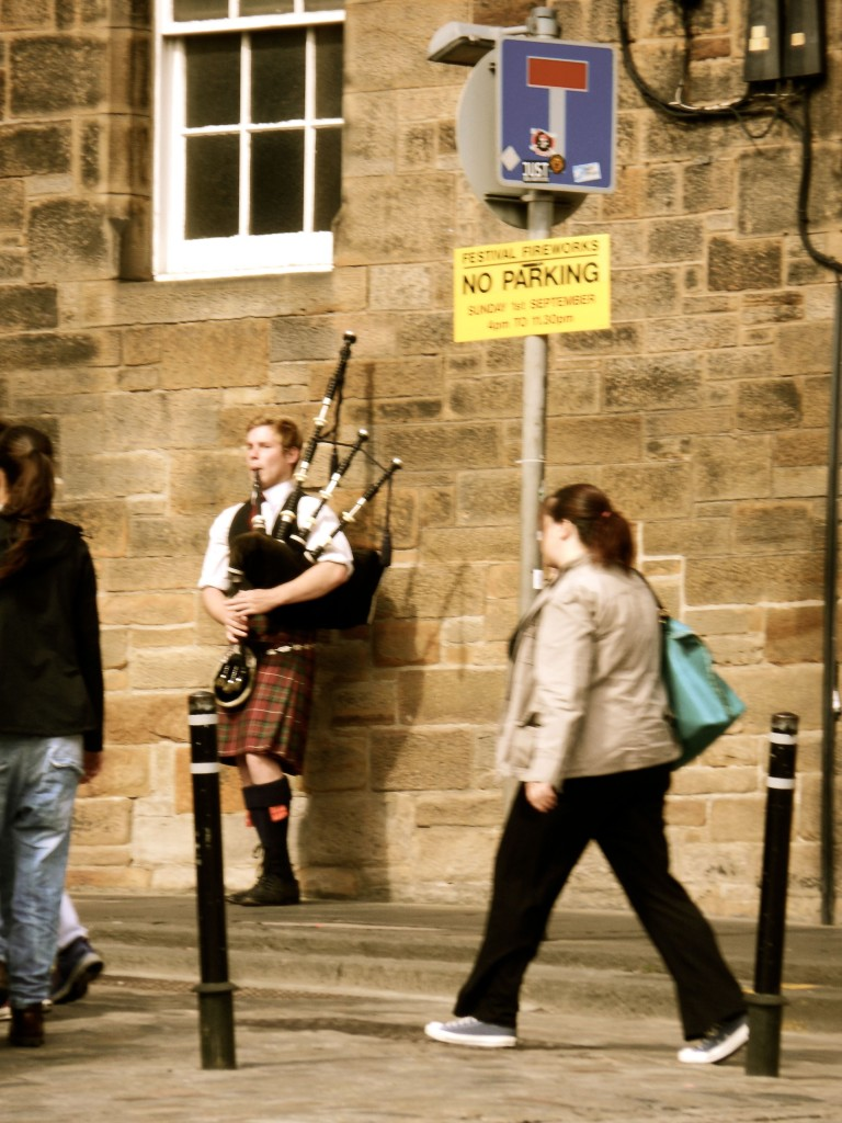 Bagpipe Player in Edinburgh Scotland