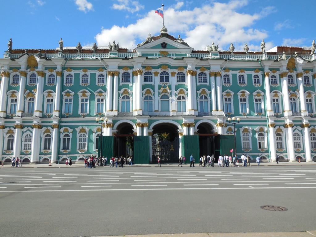 Outisde The Front of The State Hermitage Museum in St. Petersburg