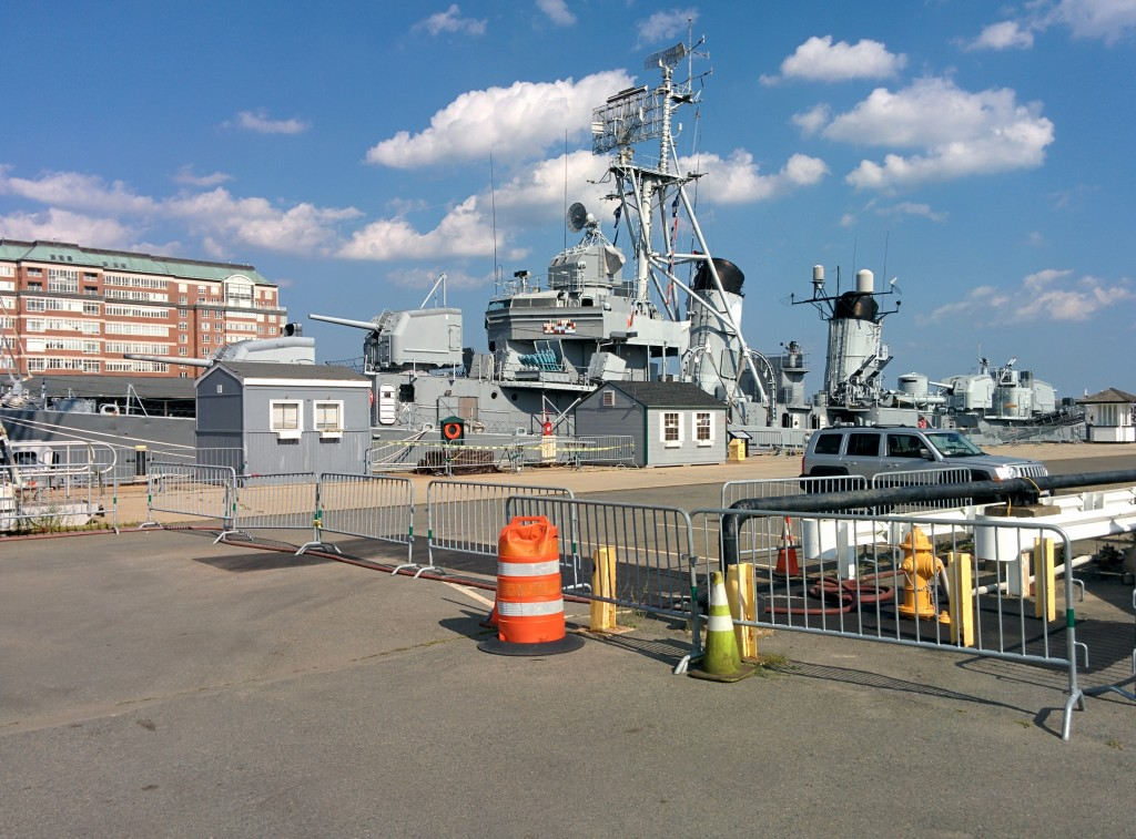 USS Cassin Young docked at the Boston Naval Yard