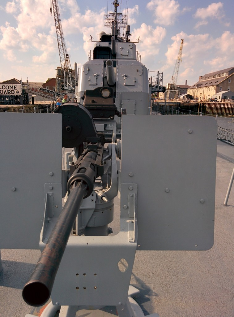 Guns of the USS Cassin Young Boston