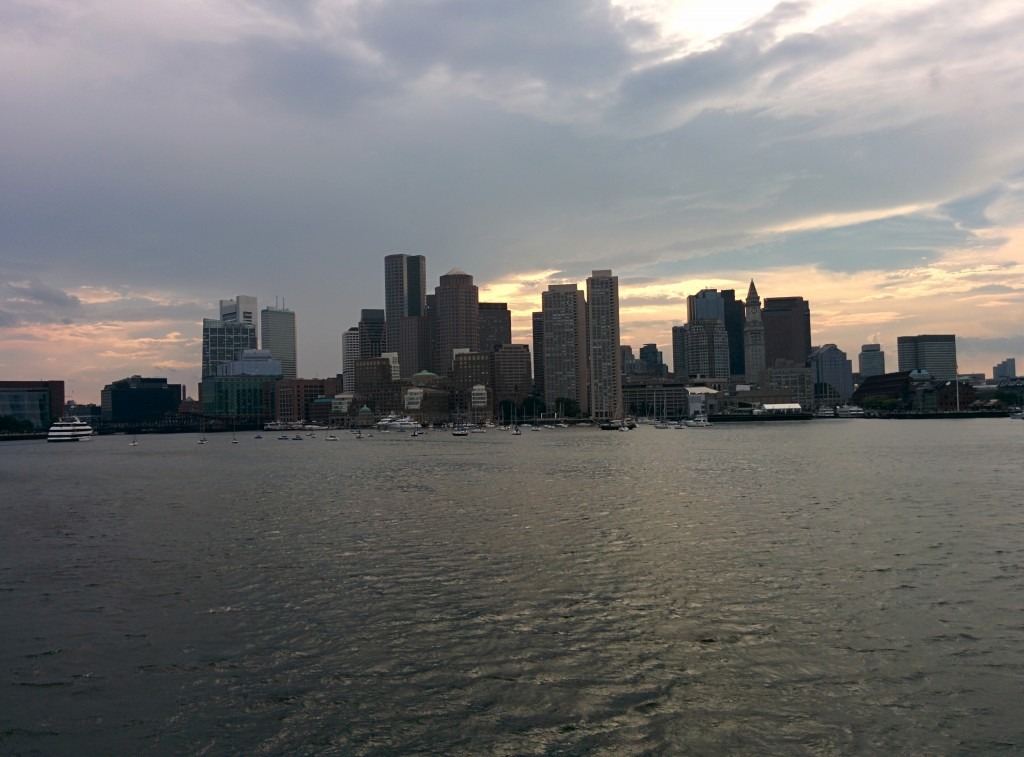 Boston City Skyline from Boston Harbor