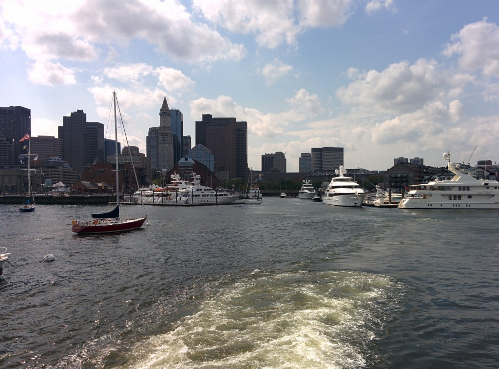 Leaving Boston Harbor on a Ferry