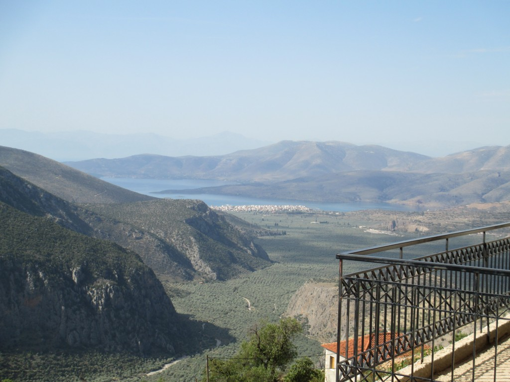 A look in to the valley below Delphi Greece