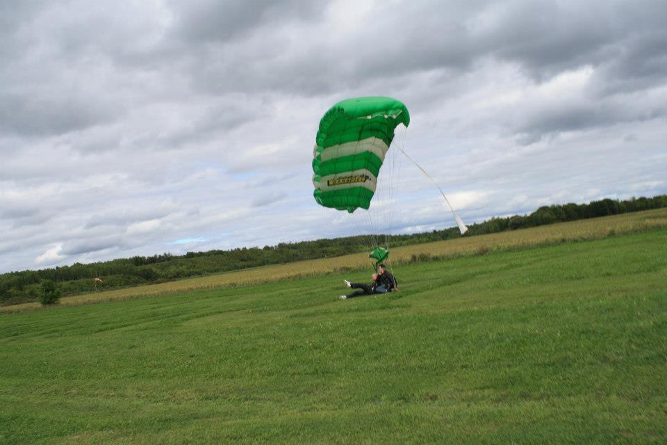 Safe landing. No Skydiving accident for me!