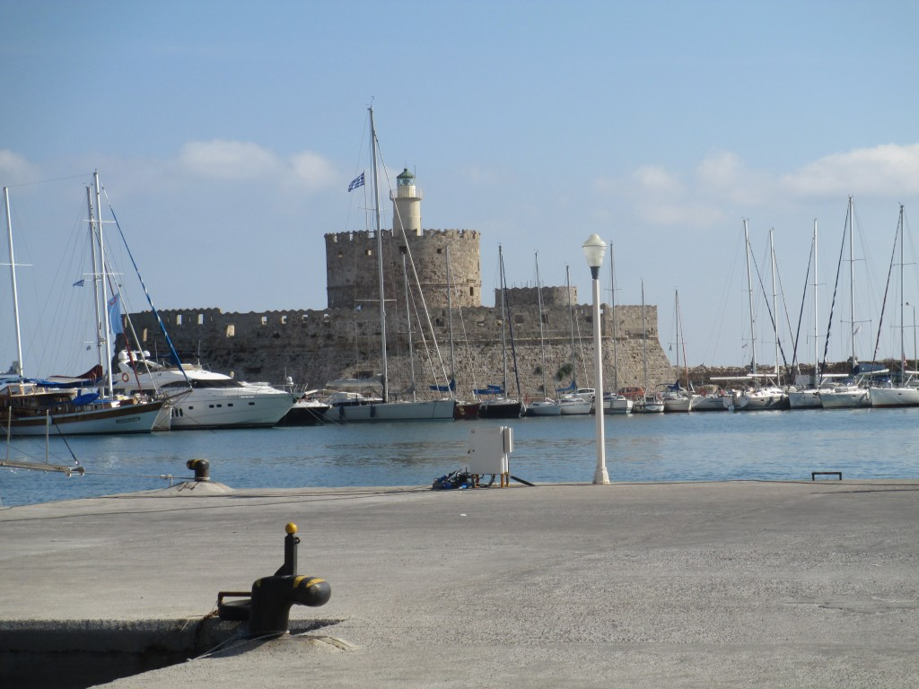 Rhodes Marina close to one of the feet of the colossus of rhodes