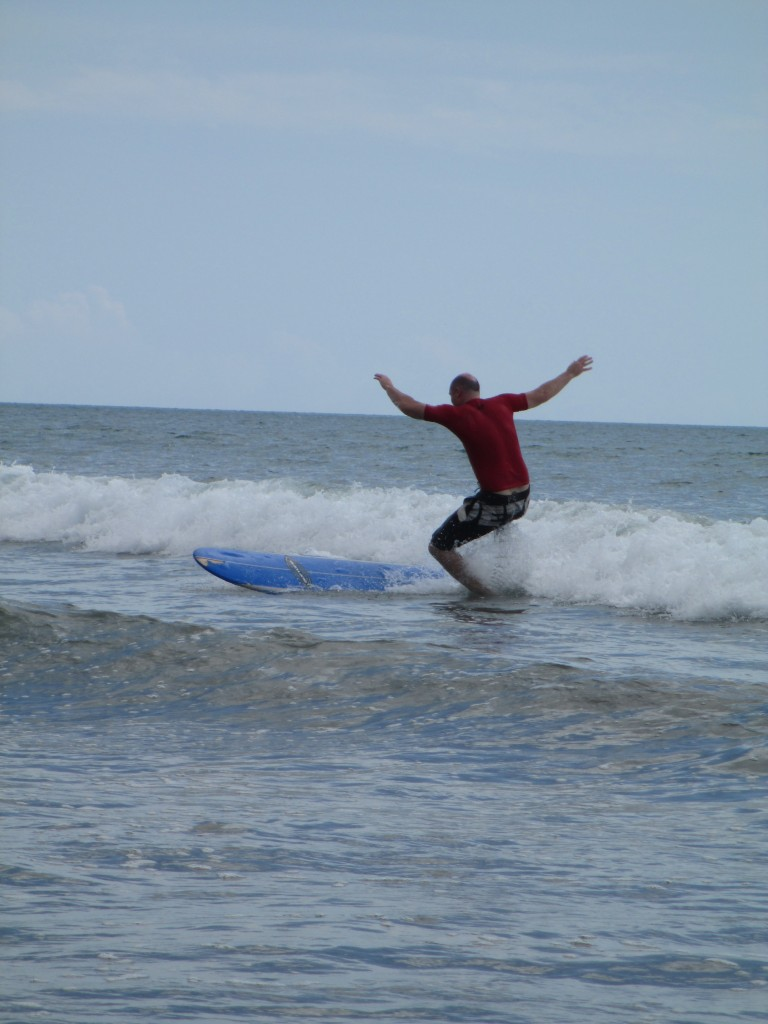 bailing out on a Surf Board