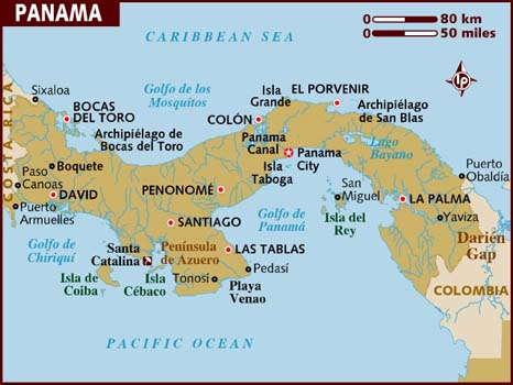 map_of_panama and panama major cities