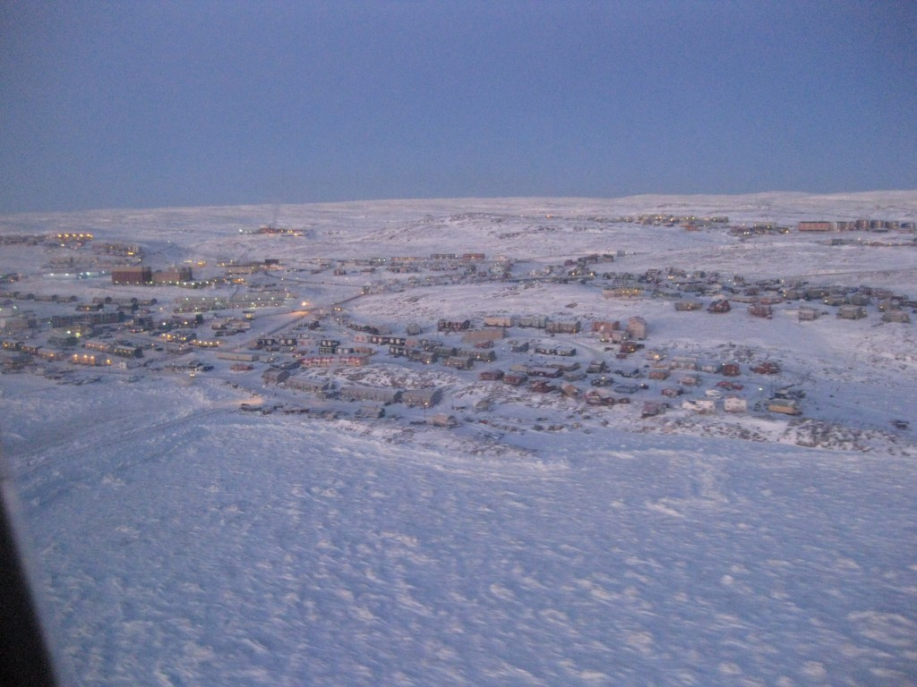 Iqaluit from the sky