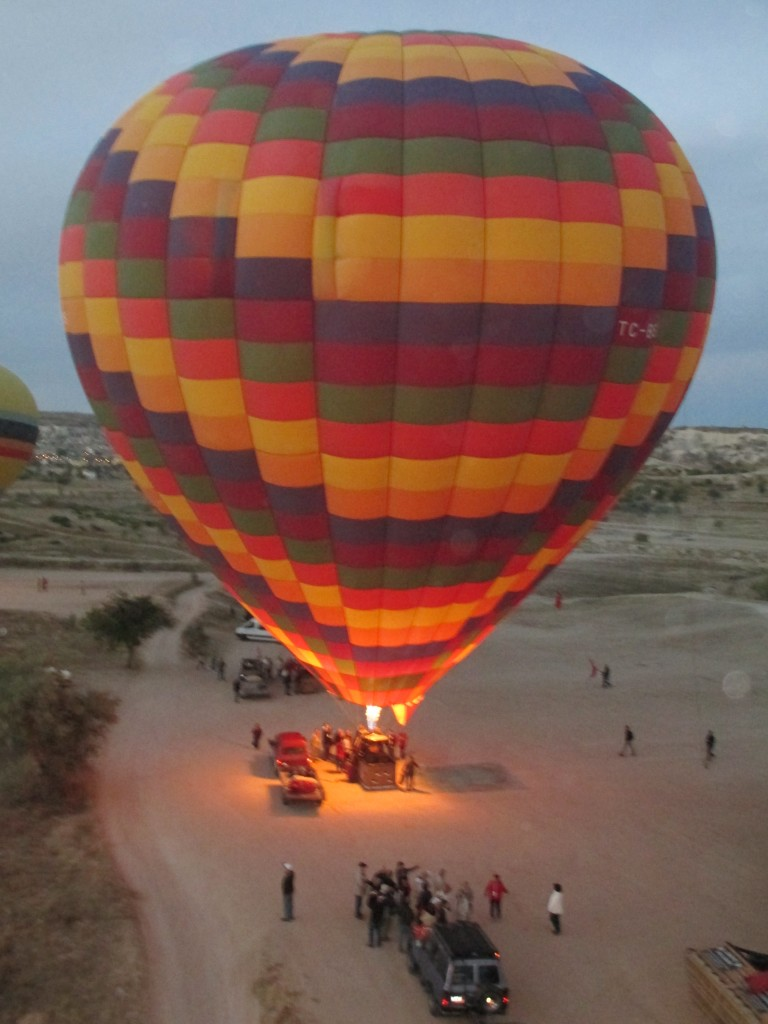Cappadocia Hot Air Balloon rising