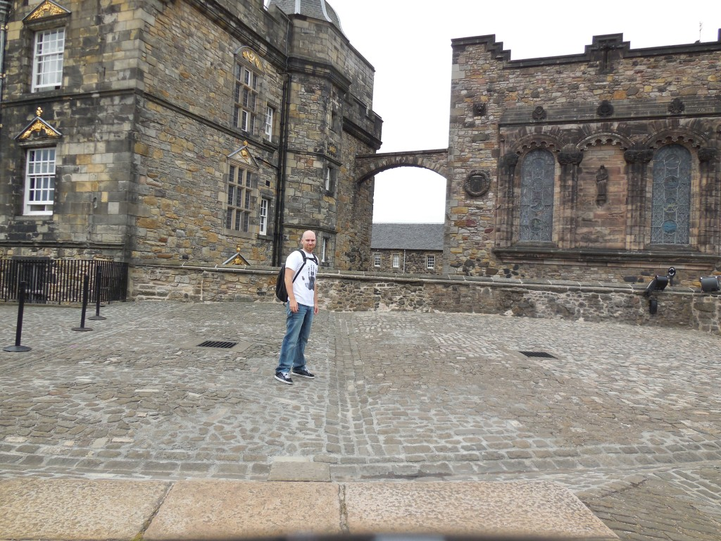 In front of Edinburgh Castle Abby