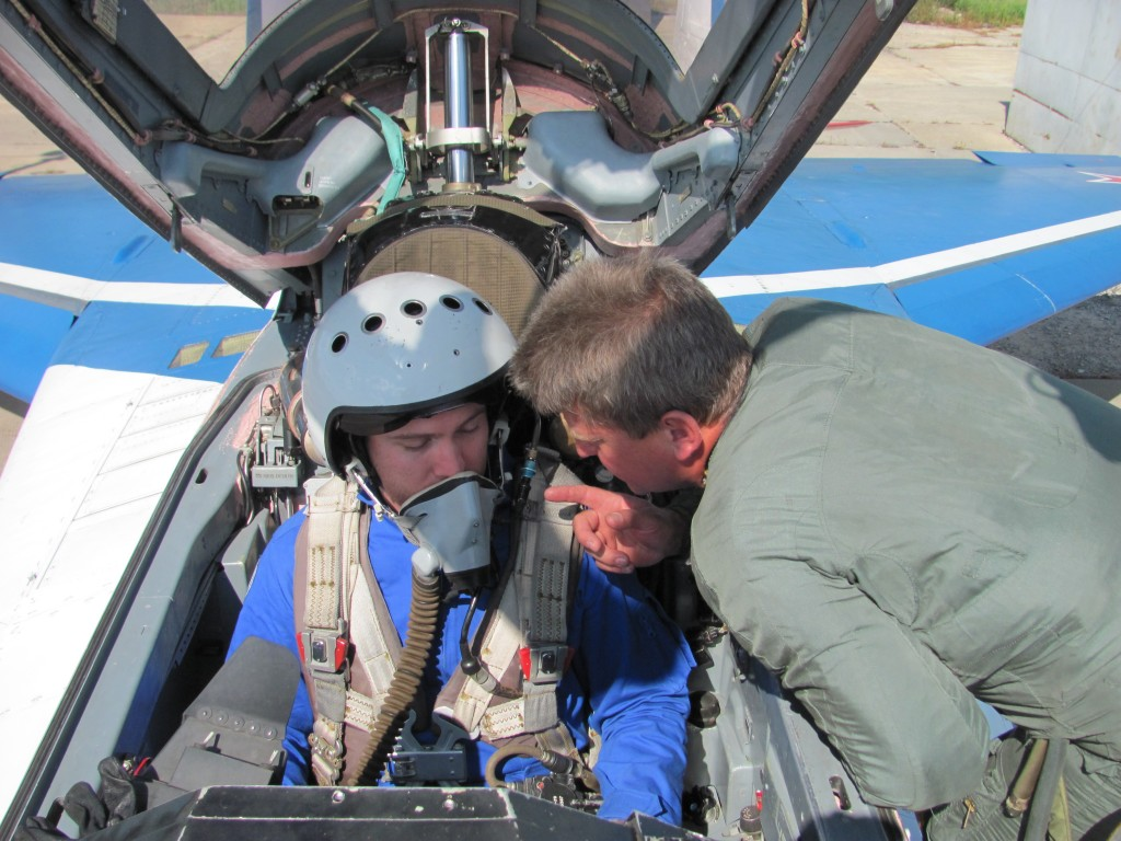pilot and I in cockpit of MIG-29