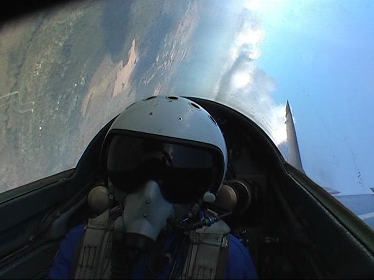 Finishing my roll in a MIG-29, I can't believe I got to fly a MIG-29 in Russia