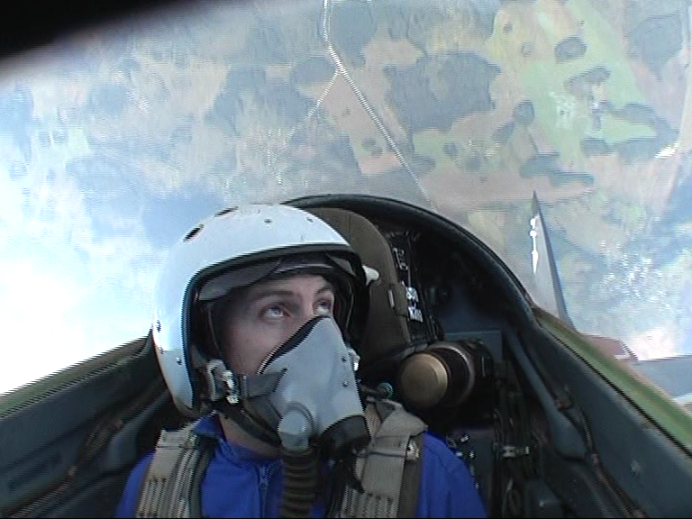 Performing a loop in a MIG-29 Jet Fighter