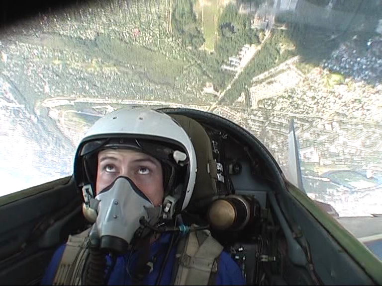 upside town flying a MIG-29