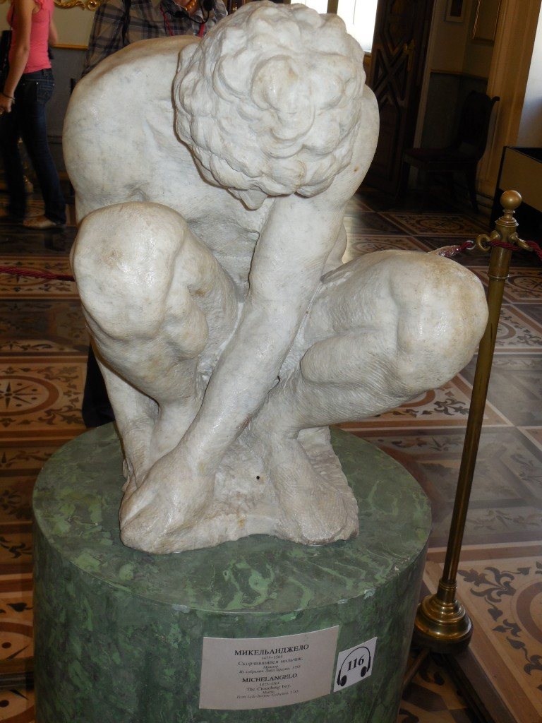 The State Hermitage Museum Michelangelo's Crouching Boy