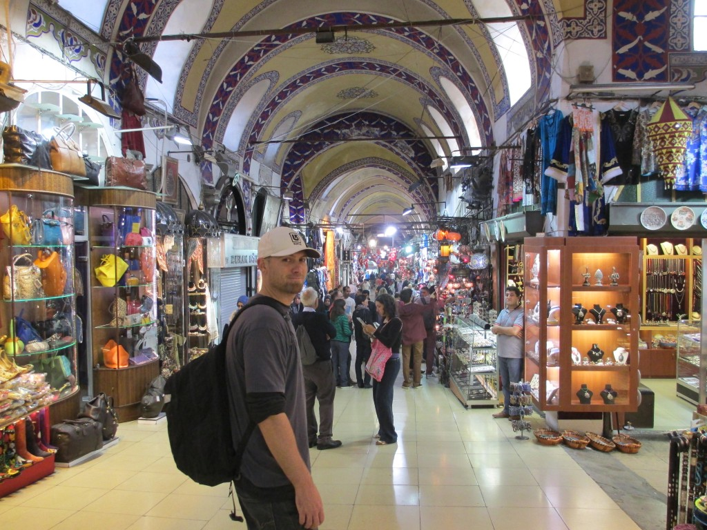 Shauns Cracked Compass inside the Instanbul Grand Bazaar