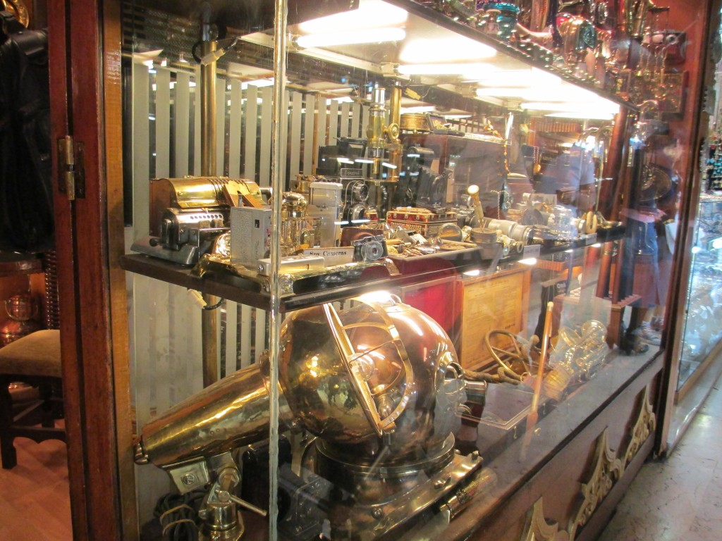 Antique store inside Istanbul Turkey Grand Bazaar