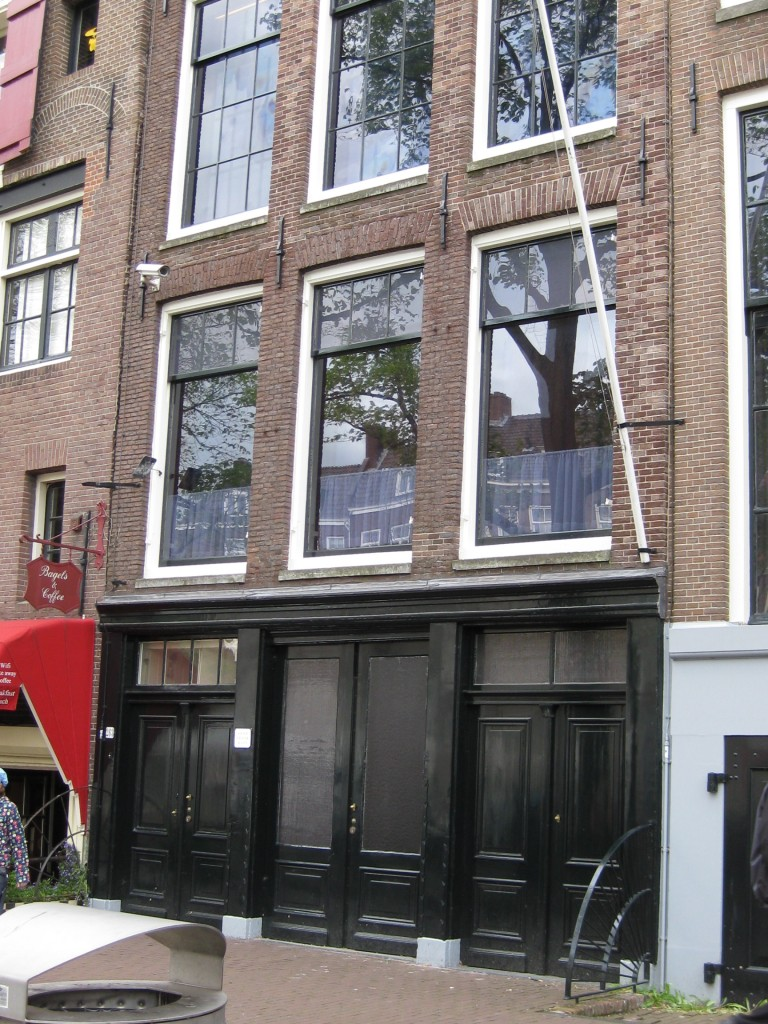 This is where the Anne Frank house is, Amsterdam