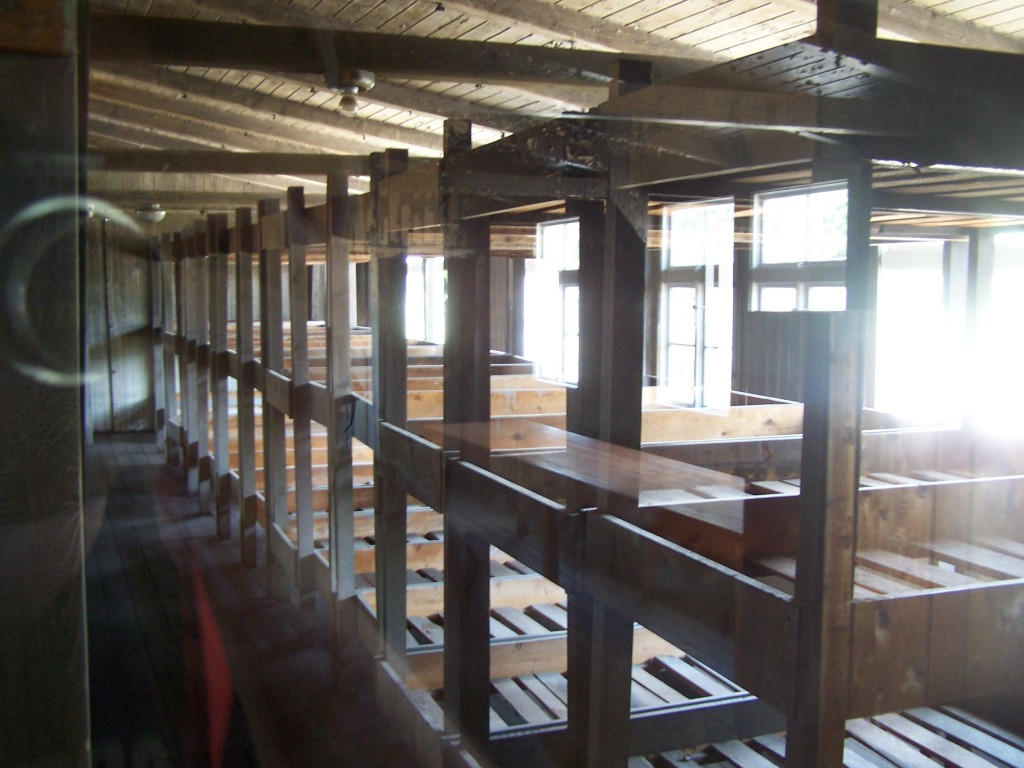 bunk beds at Sachsenhausen Concentration Camp