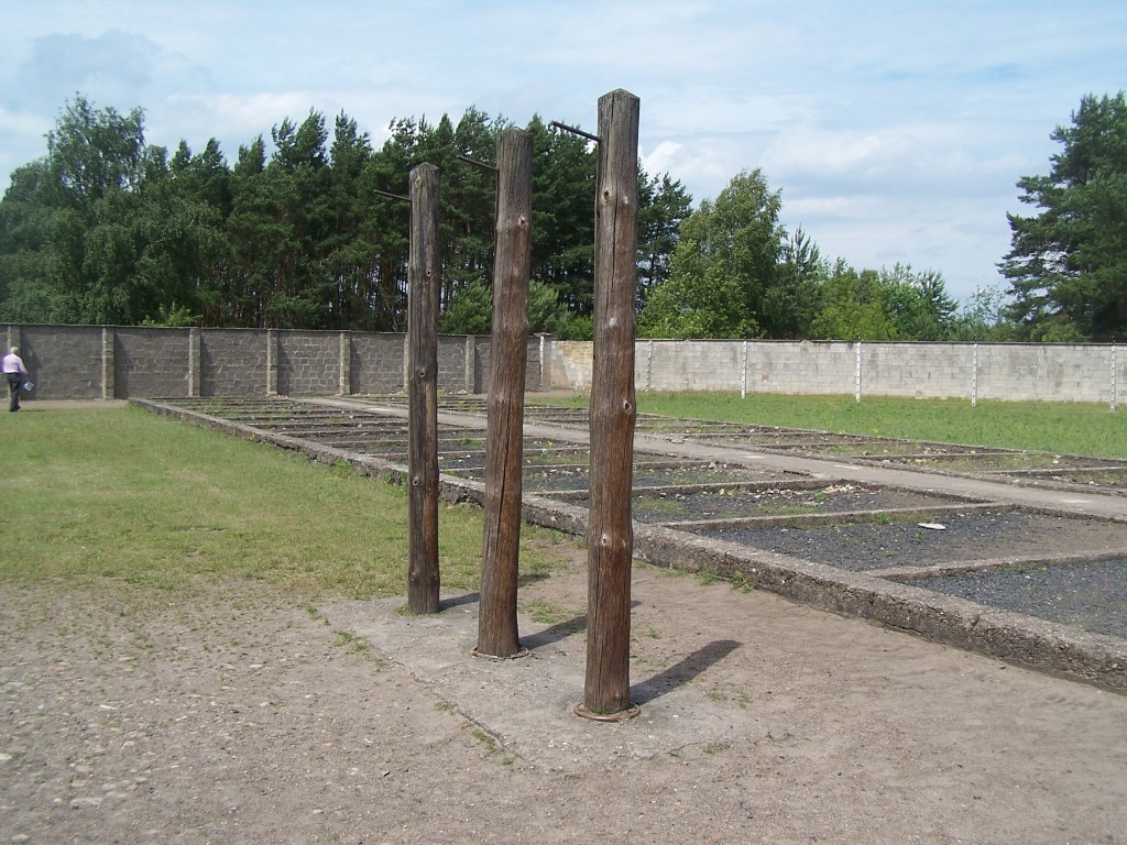 torture poles inside Sachsenhausen Concentration Camp