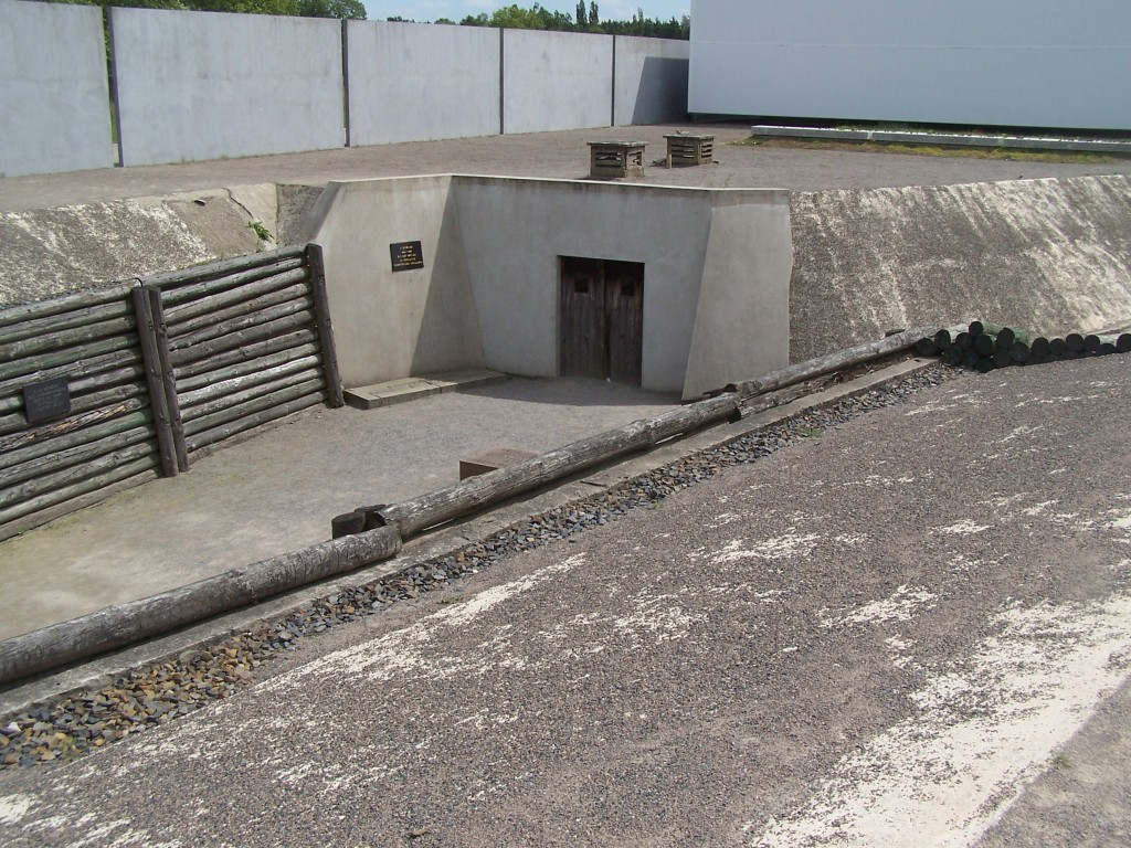 execution trench at Sachsenhausen Concentration Camp