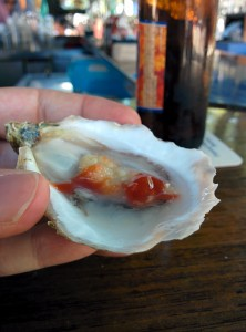 Trying Oysters in Boston