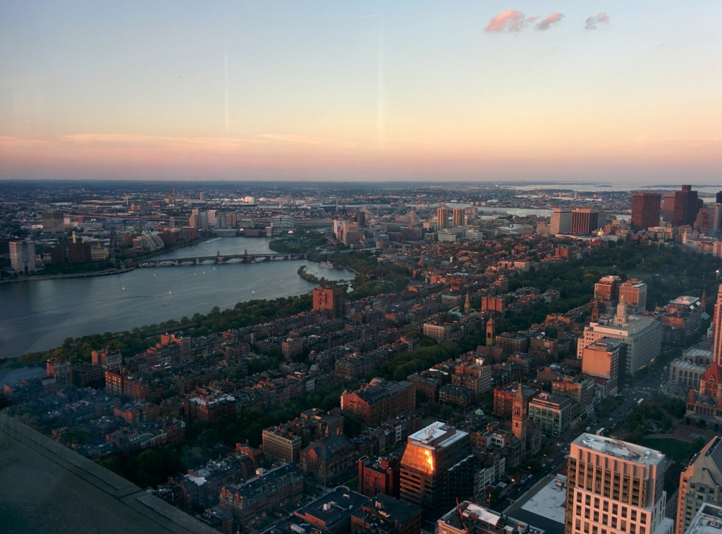 Boston from a roof top bar