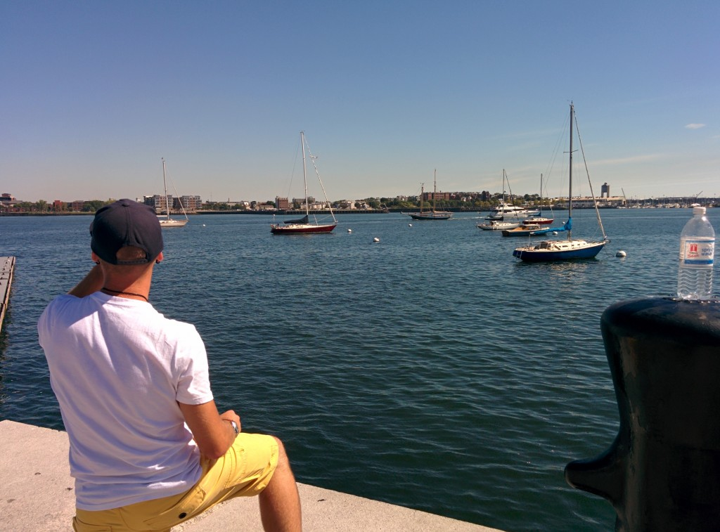 Checking out Boston Harbor