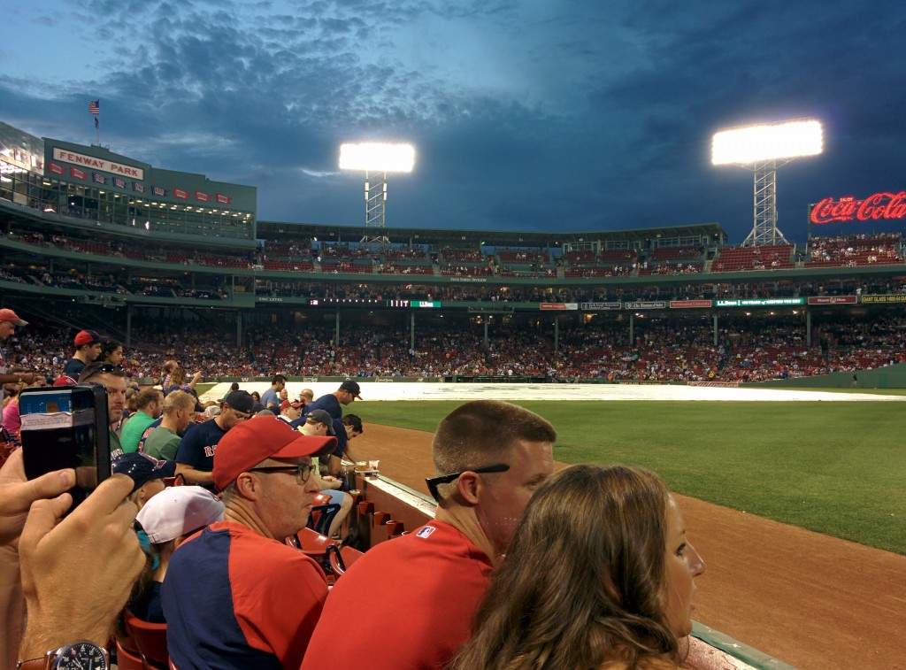 Sitting near Pesky's pole at Fenway Park