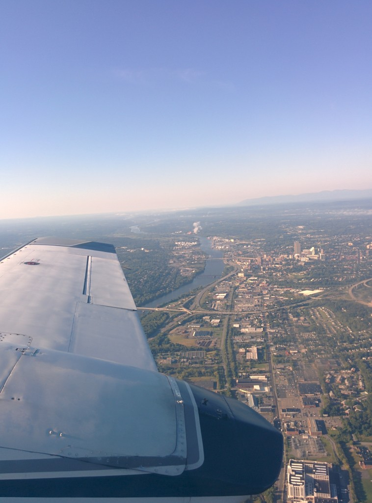 Flying in to Ottawa during the Summer, Ottawa from the sky