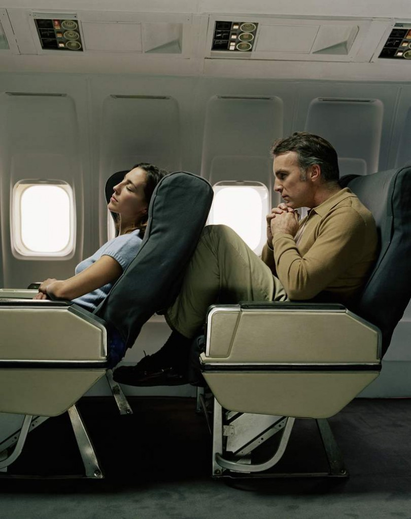 Putting your seat back on a airplane is wrong